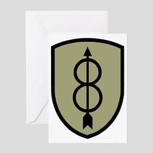 Army-8th-Infantry-Div-Dark-5 Greeting Card