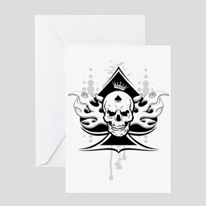 ace of spades skull Greeting Card
