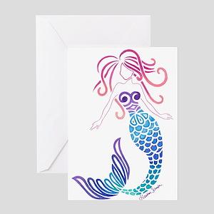 Tribal Mermaid Greeting Cards