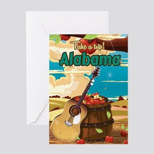 Alabama vintage travel poster Greeting Card