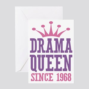 Drama Queen Since 1968 Greeting Card