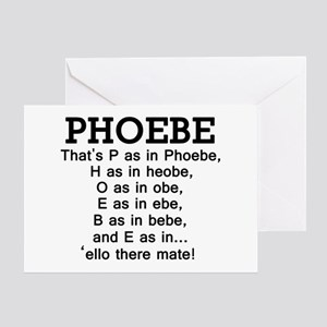 'P as in Phoebe' Greeting Card