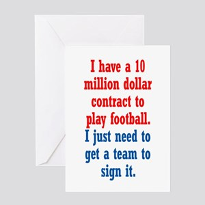 Football Contract Greeting Card