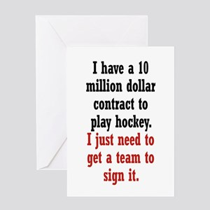 Hockey Contract Greeting Card