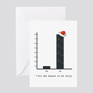 Christmas Bar Graph Greeting Cards
