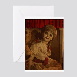 Vintage Style Annabelle Poster Greeting Card