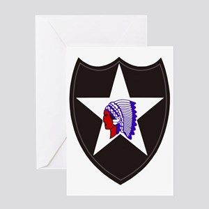 Army-2nd-Infantry-Shoulder-Patch Greeting Card