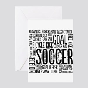 Soccer Word Cloud Greeting Cards