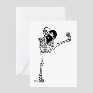 Kickboxer Greeting Cards