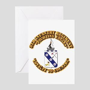 COA - 8th Infantry Regiment Greeting Card