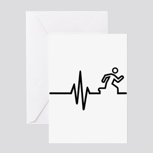 Runner frequency Greeting Card
