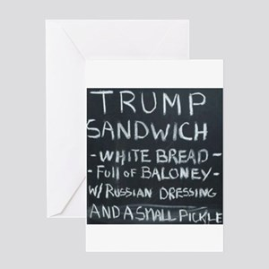 Trump Sandwich Greeting Cards