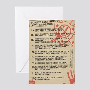 zombie-fact-sheet Greeting Card