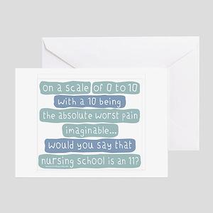 Nursing School Pain Scale Greeting Card