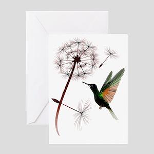 Dandelion and Hummingbird Trans Greeting Card