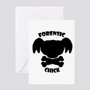 Forensic Chick Greeting Card