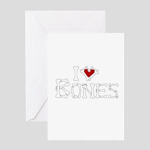 I Love Bones Greeting Card