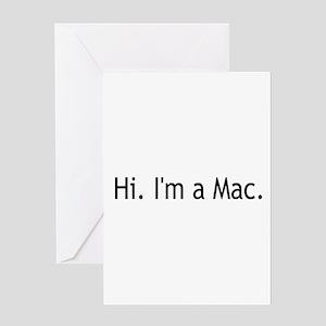 I'm a Mac Greeting Card