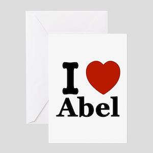 I love Abel Greeting Card