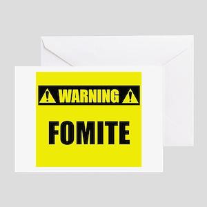 Warning: Fomite Greeting Card