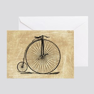 Vintage Penny Farthing Bicycle Greeting Cards