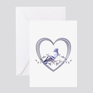 Pigeon in Heart Greeting Card