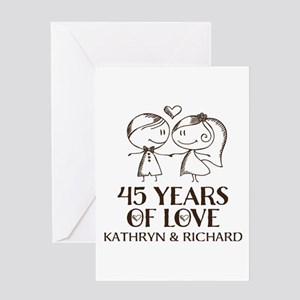 45th Wedding Anniversary Personalized Greeting Car