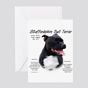 Staffordshire Bull Terrier Greeting Card