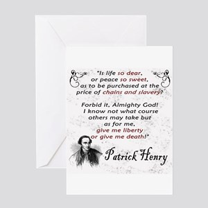 Liberty or Death Greeting Card