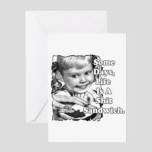 Shit Sandwich Greeting Card