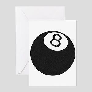 Riyah-Li Designs 8 Ball Greeting Card