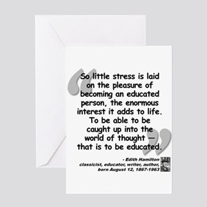 Hamilton Educated Quote Greeting Card