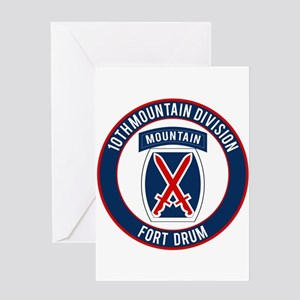 10th Mountain Ft Drum Greeting Card