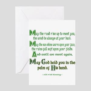 Irish May the Road Greeting Cards
