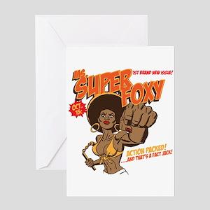 Ms. Super Foxy Greeting Card