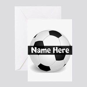 Personalized Soccer Ball Greeting Cards