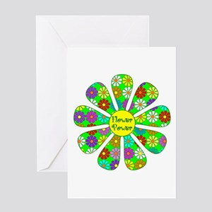 Cool Flower Power Greeting Card