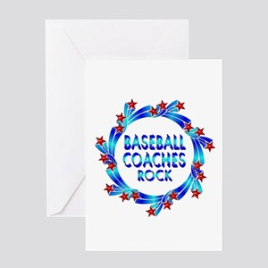 Baseball Coaches Rock Greeting Card