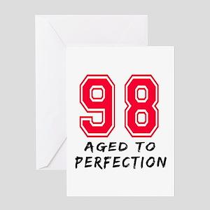 98 Year birthday designs Greeting Card