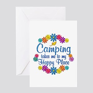 Camping Happy Place Greeting Card