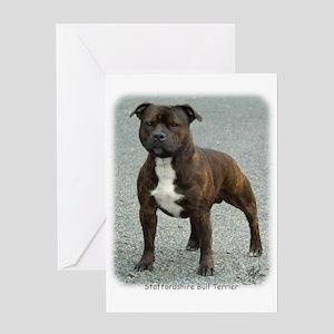 Staffordshire Bull Terrier 9F23-12 Greeting Card