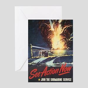US Navy Submarine Greeting Card