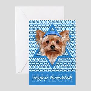 Hanukkah - Yorkie Greeting Cards