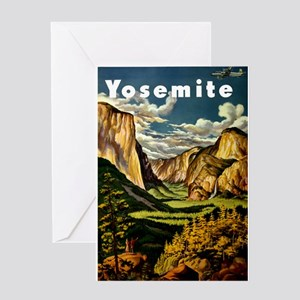 Vintage Yosemite Travel Greeting Card