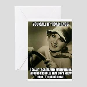 Aggressive Maneuver Greeting Cards