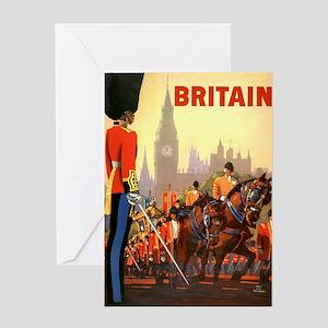 Vintage illustration travel poster Greeting Cards