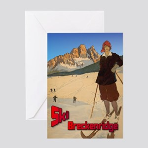 Ski Breckenridge Greeting Card
