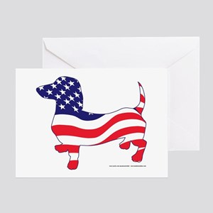 Patriotic Dachshund Greeting Card