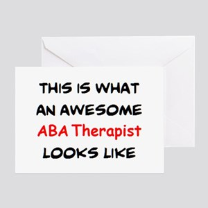 awesome aba therapist Greeting Card