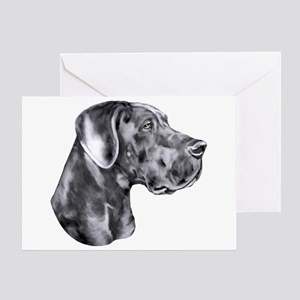 Great Dane HS Blue UC Greeting Card
